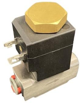 """Magnetventil Edelstahl 2/2 Wege DN6,5, 3/8"""", 24VAC, 13,5VA, 100%E"""