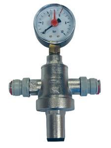 """SET WEB Water Pressure Regulator 2x 3/8"""" incl. Manometer"""