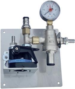 Wasserfilterstation / Tafelwasser-Filteranlage mit Tankventil