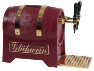 Glühweinerhitzer 9KW / 3-ltg / + Luftkompressor / Fassform / ROT