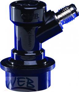 Steckkupplung NC Getränk  (schwarz) mit VA Stößel