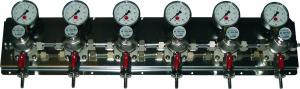 Zwischendruckreglerstation MM 7-fach, mit Edelstahl- Wandblech