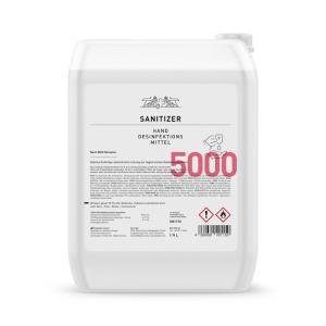 Hände-Desinfektionsmittel Sanitizer 5.000ml, 85% / nach WHO Rez.