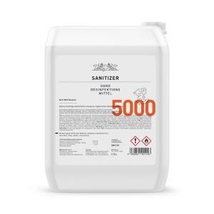 Hände-Desinfektionsmittel Sanitizer 5.000ml, 80% / nach WHO Rez.