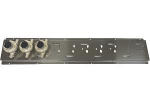 Montageblech Edelstahl 720 x 140 mm / für 10 Digmesa Flowmeter