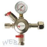 Anbauarmatur CO2, 4bar, Micro Matic PREMIUM, Abg. G1/2 AG links
