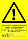 """CO2 - Warnhinweisschild """"ACHTUNG"""""""