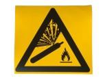 """CO2 - Warnhinweis-Aufkleber """"Warnung vor Gasflaschen"""""""