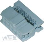 Pfostenverbinder 10-polig  (Buchsen-Krimp-Stecker f.Flachbandkabe