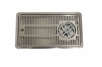 Flush Mount Driptray with glass rinser  400 mm x 220 mm