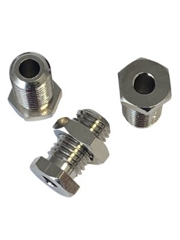 "Bulkhead fitting 1/2"" BSF for tube Ø 6 mm, MS nickel-plated"