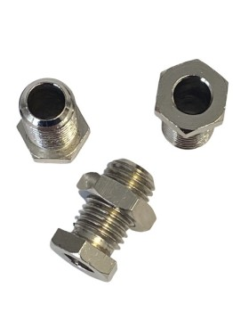 "Bulkhead fitting 1/2"" BSF for tube Ø 8 mm, MS nickel-plated"