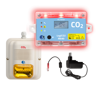 Gaswarngerät LogiCO2 MK90-SA / Stand Alone + Horn / Strobe LED