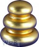 Ziermutter vergoldet zu Keramiksäule 3-Ring-Form 28 x 30 mit Gewi