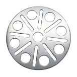 Plate for glass shower / stainless steel