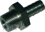 Adaptor Stainless Steel 6 mm 3/8""