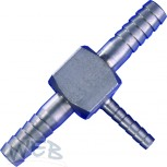 Stainless Steel Barbed Fitting Tee 7-4-7 mm