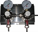 Zwischendruckreglerstation MM 2-fach, mit Edelstahl- Wandblech