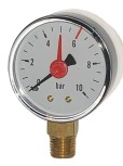 "Manometer 1/4"" / d 50 / 0-10bar / roter Strich bei 6 bar"