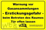 CO2 - Warnhinweisschild