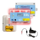 Gaswarngerät LogiCO2 MK90 CO2 Sensor +Zentraldisplay+Horn+Strob