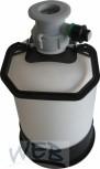 Reinigungscontainer Kunststoff / 5 Liter / Korbfitting