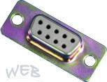SUB-D female connector,  9-pin