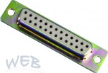SUB-D female connector, 25-pin