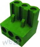 PC terminal block  2 poles with wire protection