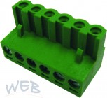 PC terminal block  6 poles with wire protection