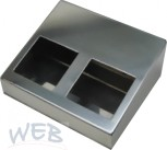 Table housing stainless steel, for 2 Nano Touch